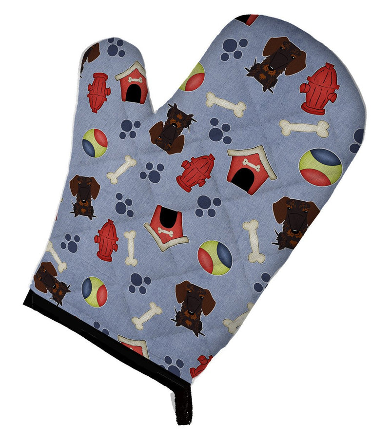 Buy this Dog House Collection Wire Haired Dachshund Chocolate Oven Mitt BB2742OVMT