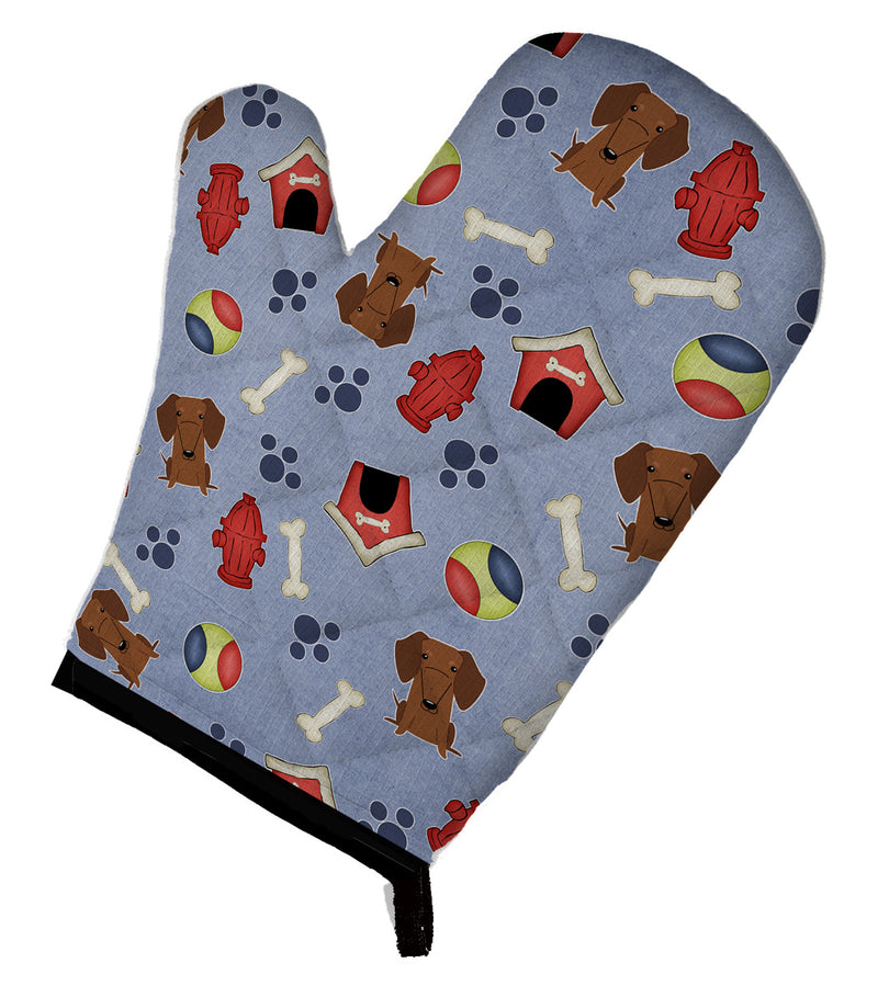 Buy this Dog House Collection Dachshund Red Brown Oven Mitt BB2743OVMT
