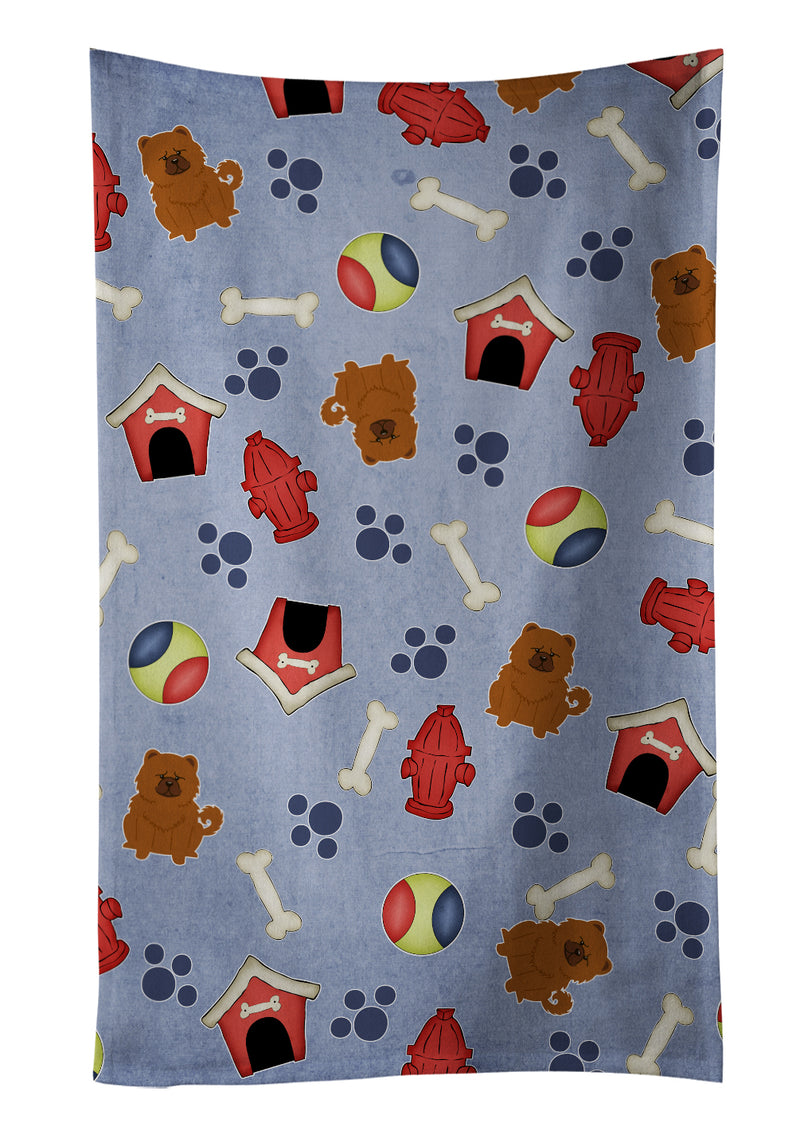 Dog House Collection Chow Chow Red Kitchen Towel BB2755KTWL by Caroline's Treasures