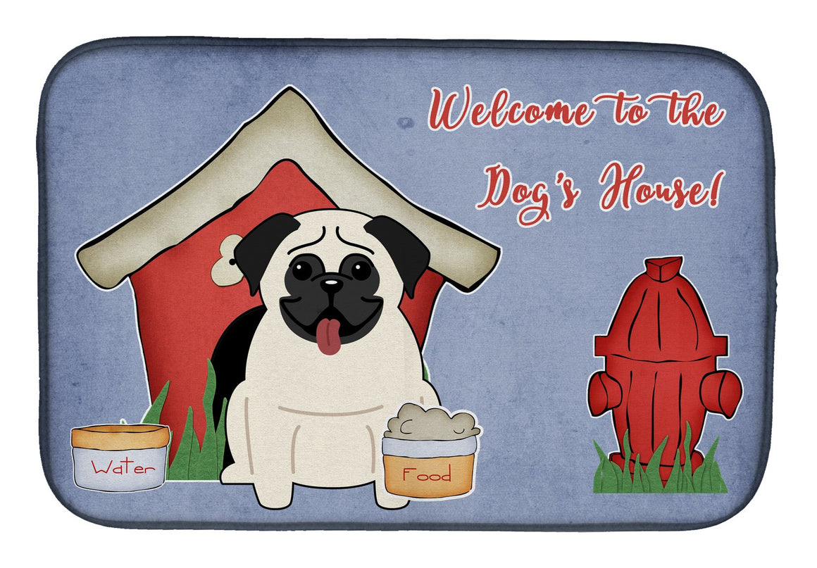 Buy this Dog House Collection Pug Cream Dish Drying Mat BB2758DDM