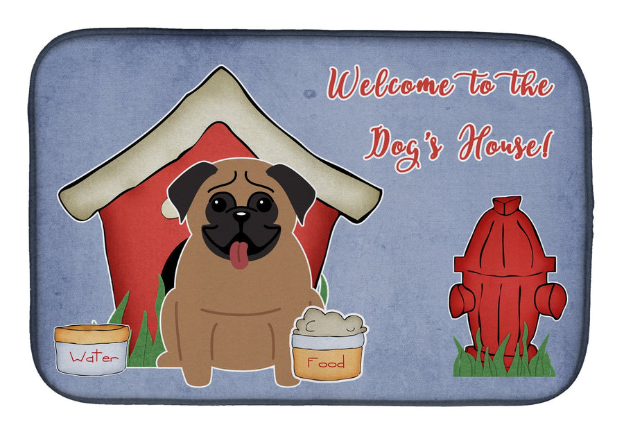 Buy this Dog House Collection Pug Brown Dish Drying Mat BB2759DDM