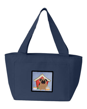 Buy this Dog House Collection Pug Brown Lunch Bag BB2759NA-8808