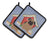 Buy this Dog House Collection Pug Brown Pair of Pot Holders BB2759PTHD