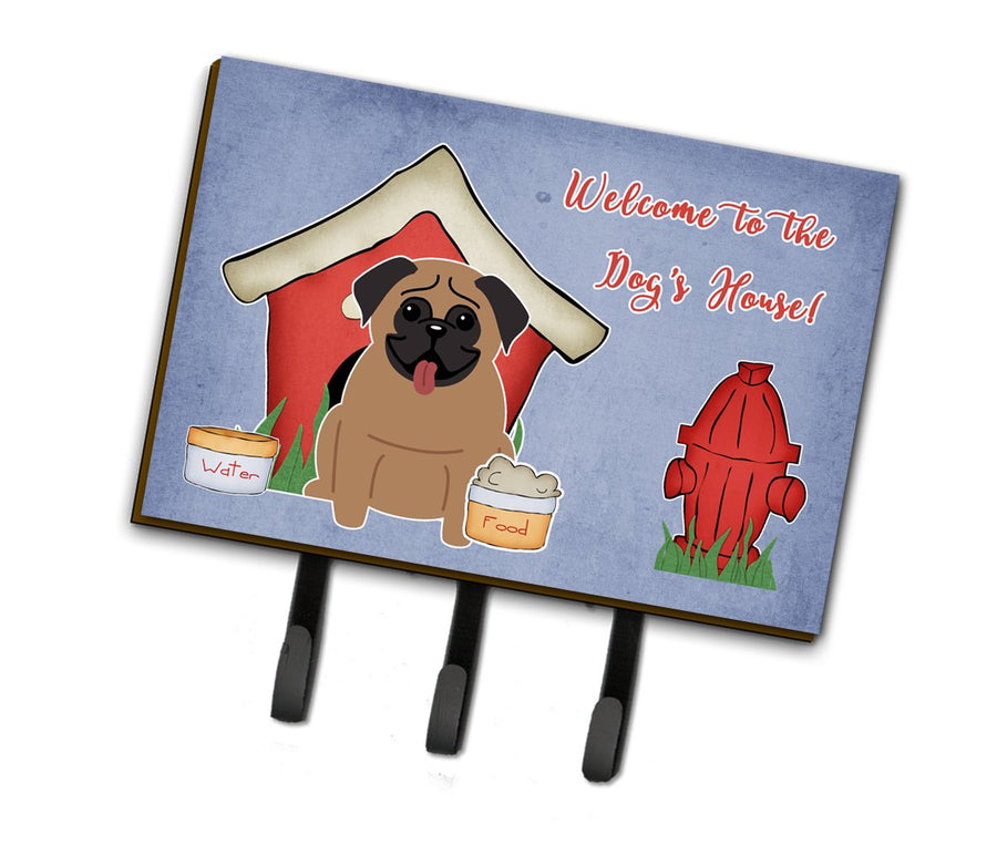Buy this Dog House Collection Pug Brown Leash or Key Holder BB2759TH68