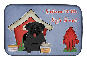 Buy this Dog House Collection Pug Black Dish Drying Mat BB2760DDM