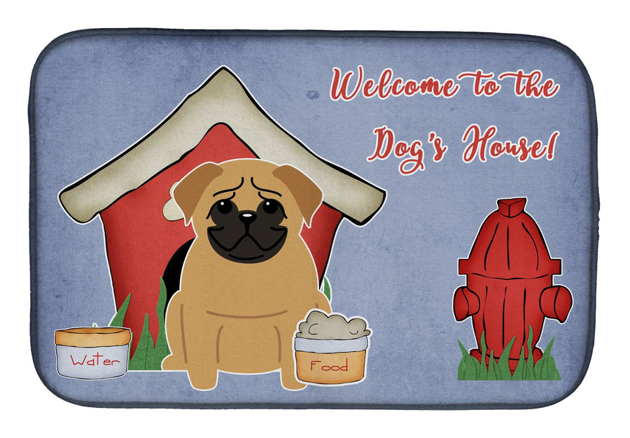 Buy this Dog House Collection Pug Brown Dish Drying Mat BB2761DDM