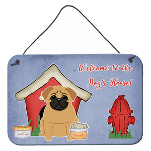 Buy this Dog House Collection Pug Brown Wall or Door Hanging Prints BB2761DS812