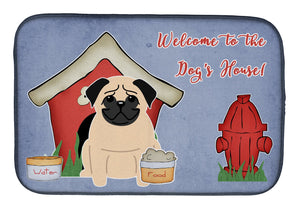 Buy this Dog House Collection Pug Fawn Dish Drying Mat BB2762DDM
