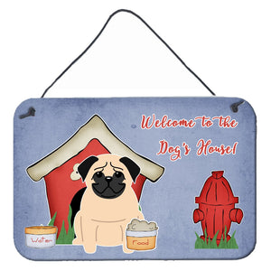 Buy this Dog House Collection Pug Fawn Wall or Door Hanging Prints BB2762DS812