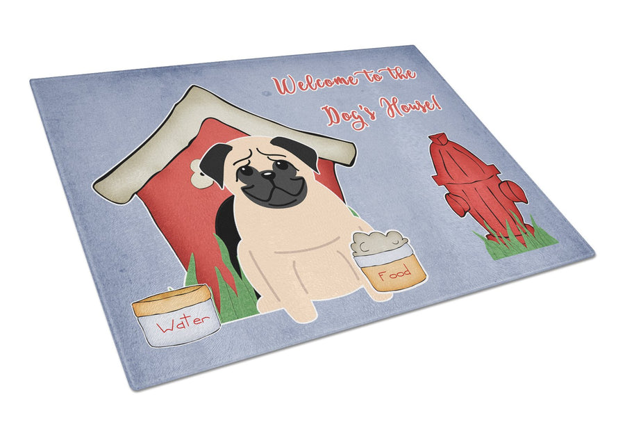 Buy this Dog House Collection Pug Fawn Glass Cutting Board Large BB2762LCB