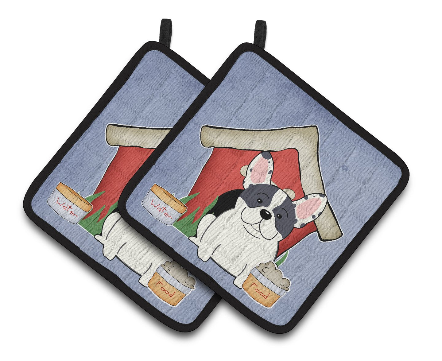 Buy this Dog House Collection French Bulldog Piebald Pair of Pot Holders BB2765PTHD