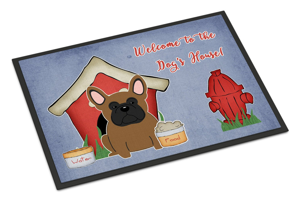 Buy this Dog House Collection French Bulldog Brown Indoor or Outdoor Mat 18x27 BB2767MAT