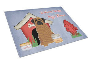 Buy this Dog House Collection Mastiff Brindle Glass Cutting Board Large BB2769LCB