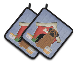 Buy this Dog House Collection Mastiff Brindle Pair of Pot Holders