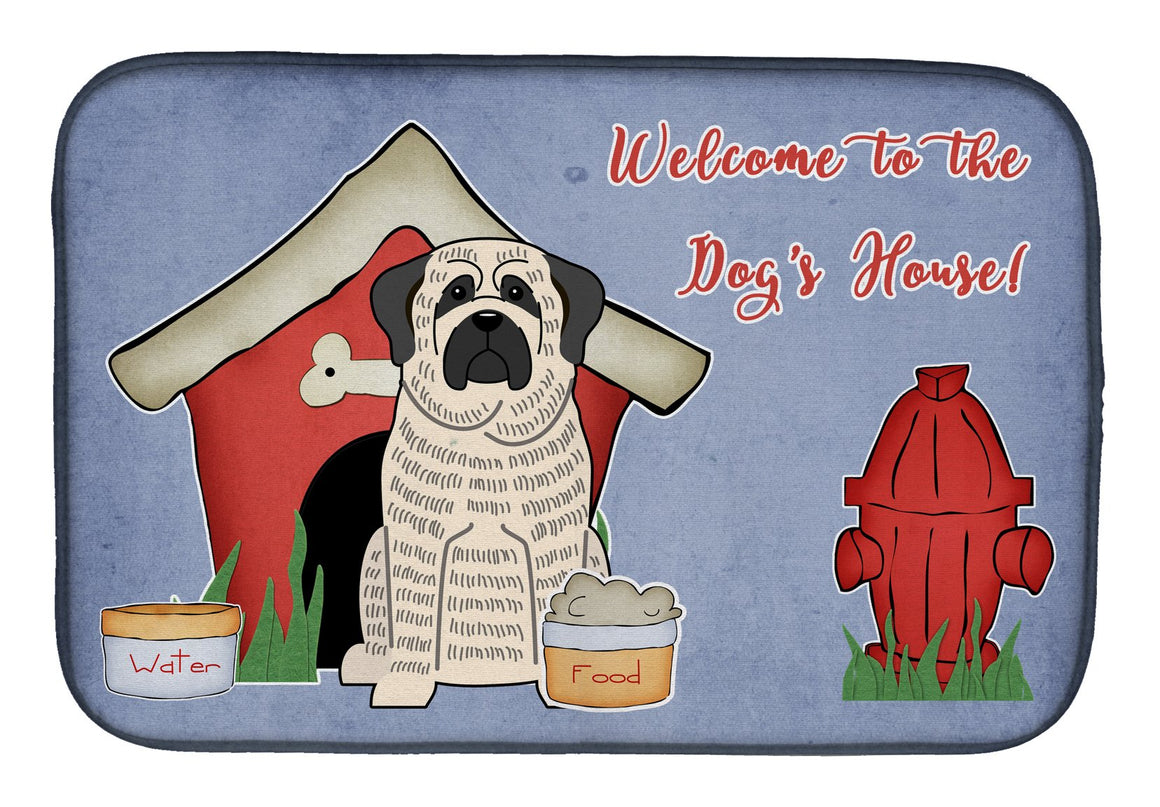 Buy this Dog House Collection Mastiff Brindle White Dish Drying Mat BB2770DDM