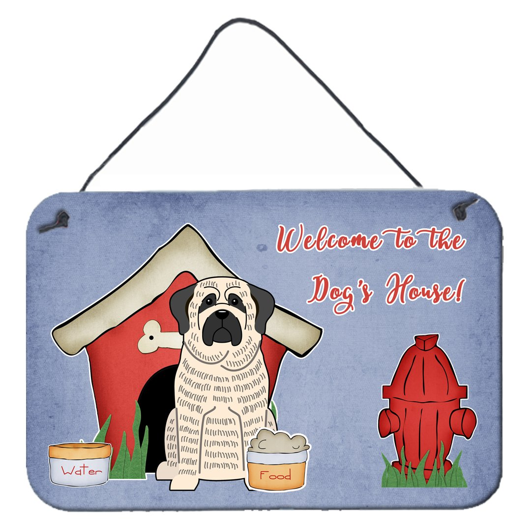 Dog House Collection Mastiff Brindle White Wall or Door Hanging Prints by Caroline's Treasures