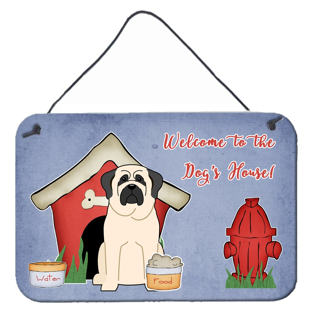 Dog House Collection Mastiff White Wall or Door Hanging Prints by Caroline's Treasures