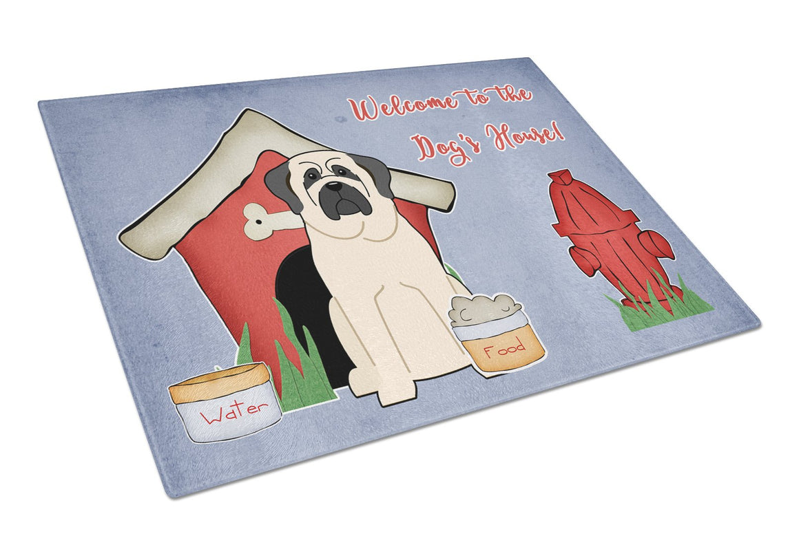 Buy this Dog House Collection Mastiff White Glass Cutting Board Large BB2771LCB
