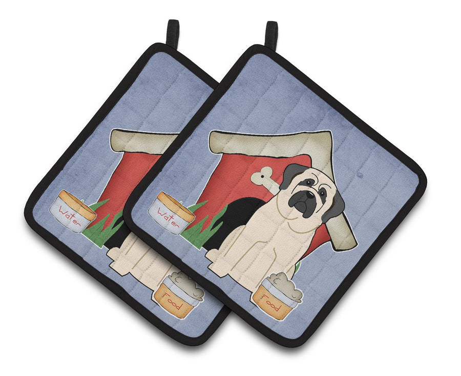 Buy this Dog House Collection Mastiff White Pair of Pot Holders BB2771PTHD