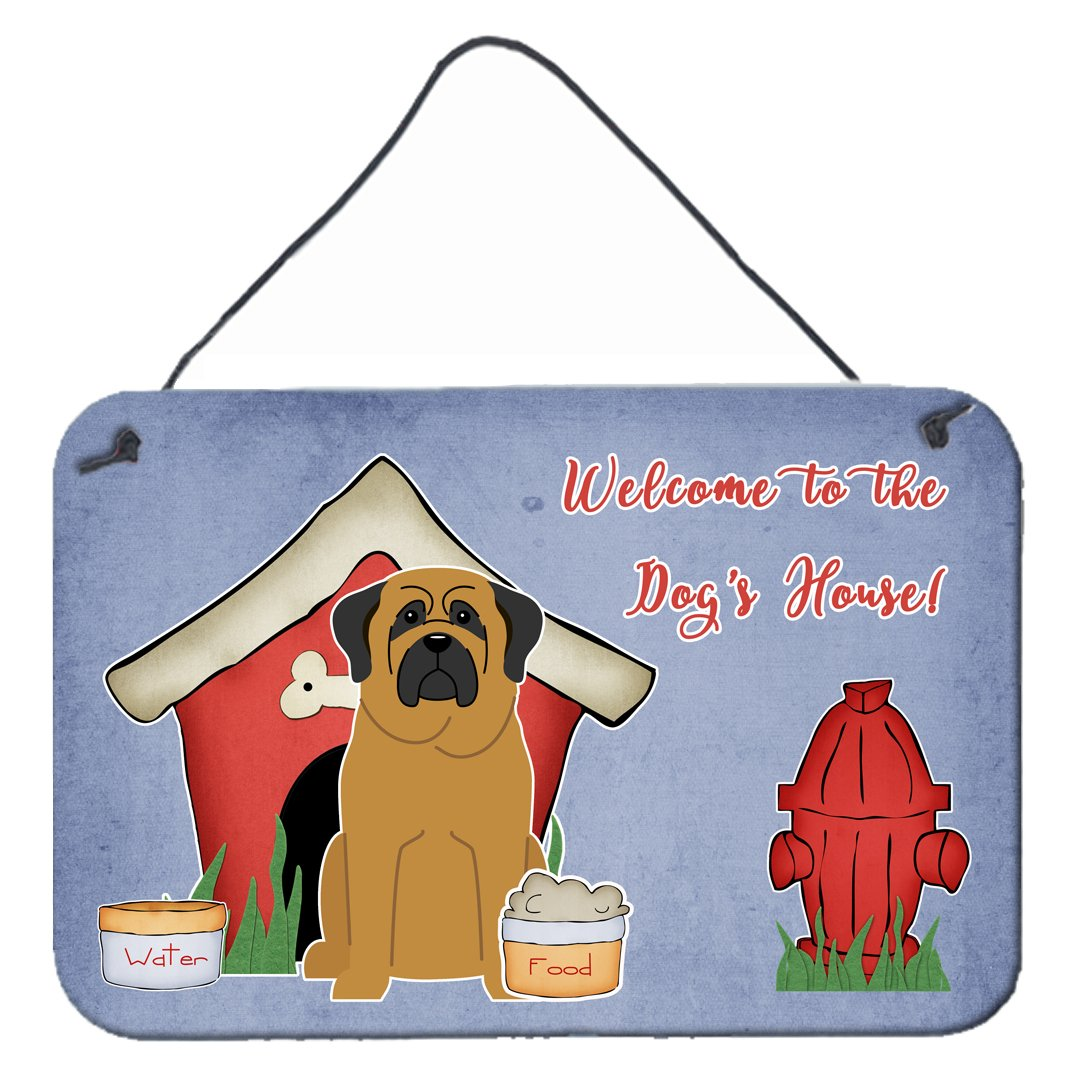 Dog House Collection Mastiff Wall or Door Hanging Prints by Caroline's Treasures