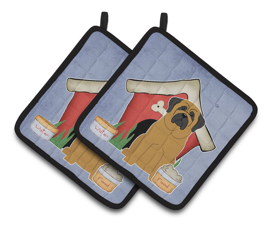 Buy this Dog House Collection Mastiff Pair of Pot Holders BB2772PTHD