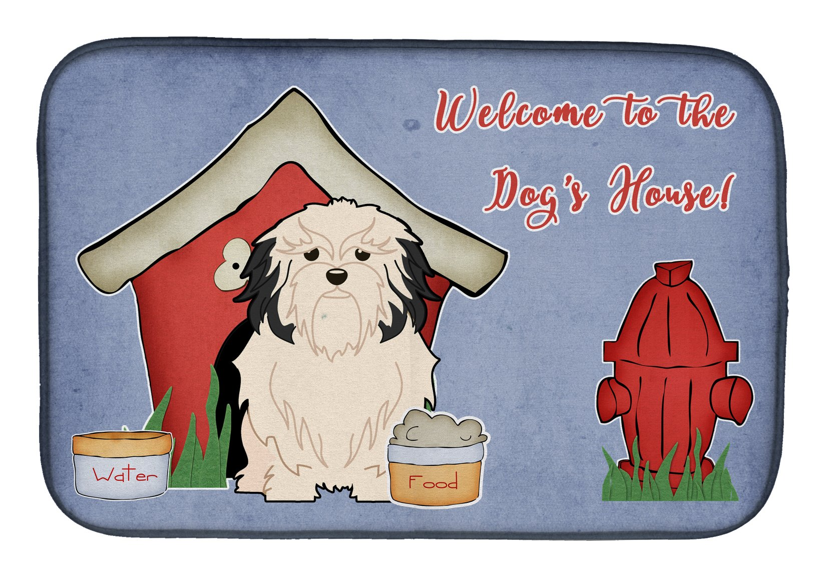 Dog House Collection Lowchen Dish Drying Mat BB2773DDM by Caroline's Treasures