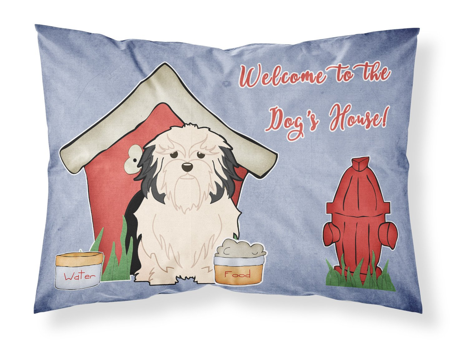 Dog House Collection Lowchen Fabric Standard Pillowcase BB2773PILLOWCASE by Caroline's Treasures
