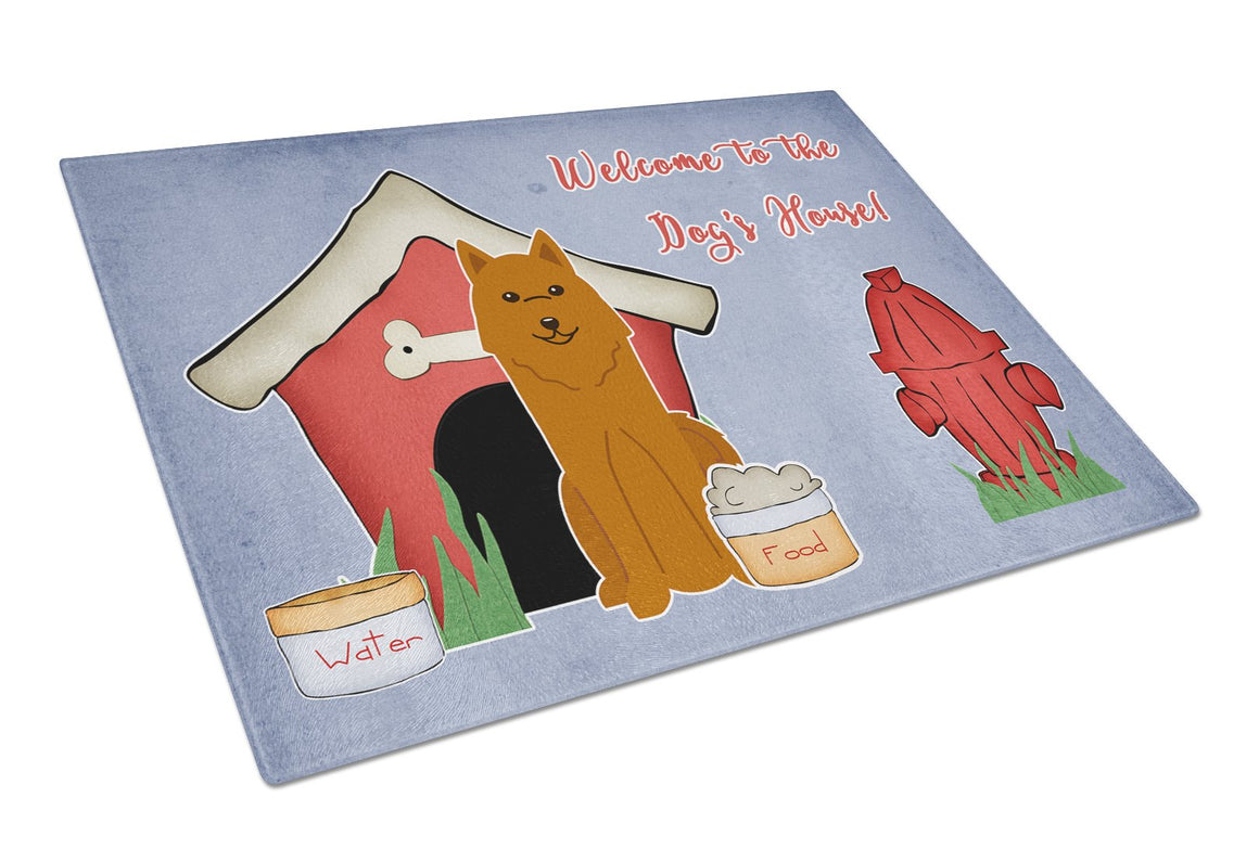 Buy this Dog House Collection Karelian Bear Dog Glass Cutting Board Large BB2776LCB