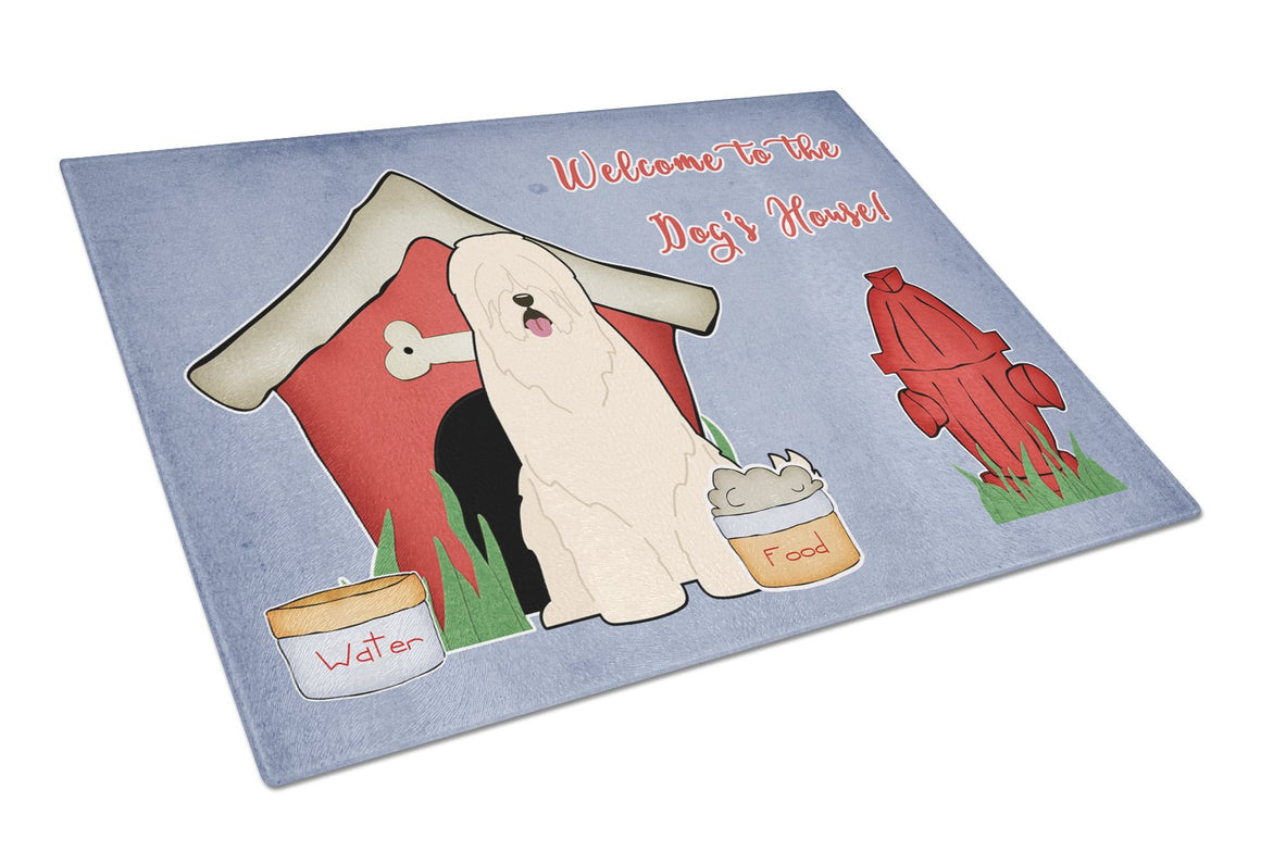 Buy this Dog House Collection South Russian Sheepdog Glass Cutting Board Large BB2778LCB