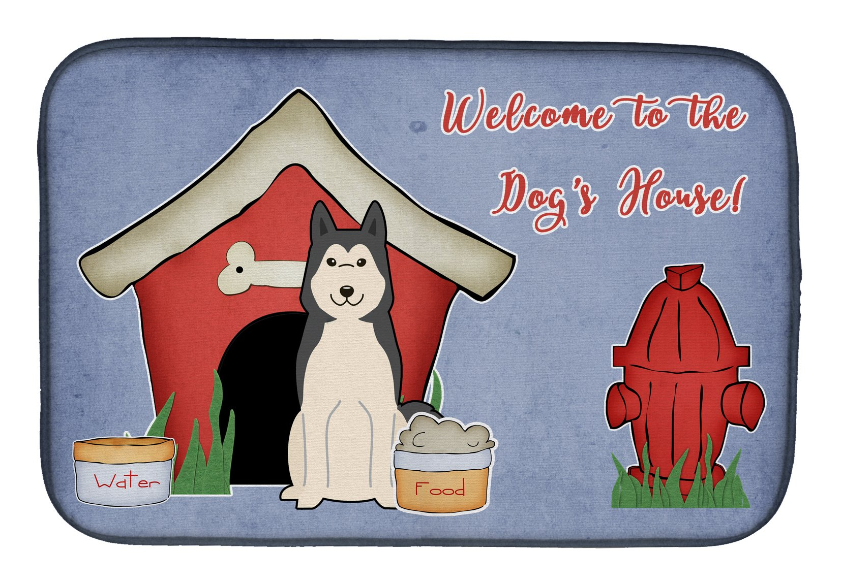 Dog House Collection West Siberian Laika Spitz Dish Drying Mat BB2779DDM by Caroline's Treasures