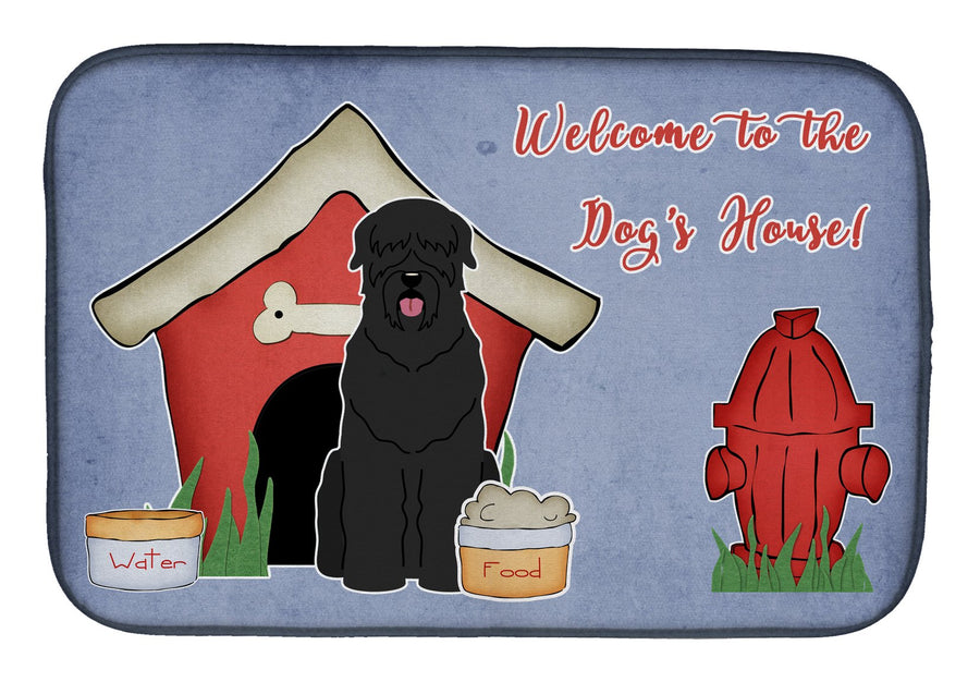 Buy this Dog House Collection Black Russian Terrier Dish Drying Mat BB2780DDM