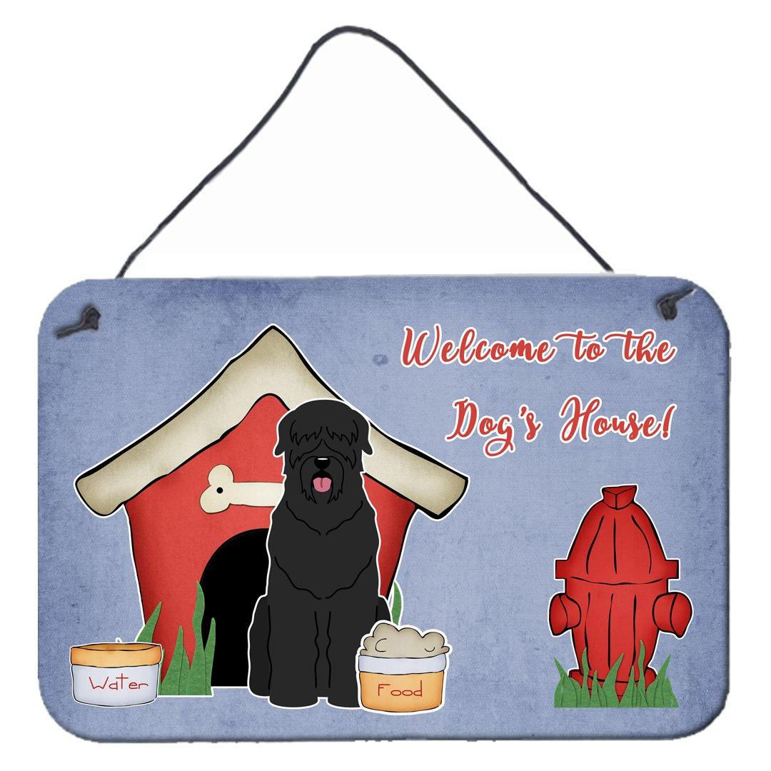 Buy this Dog House Collection Black Russian Terrier Wall or Door Hanging Prints BB2780DS812