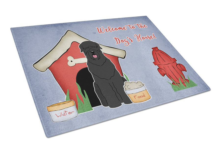 Buy this Dog House Collection Black Russian Terrier Glass Cutting Board Large BB2780LCB