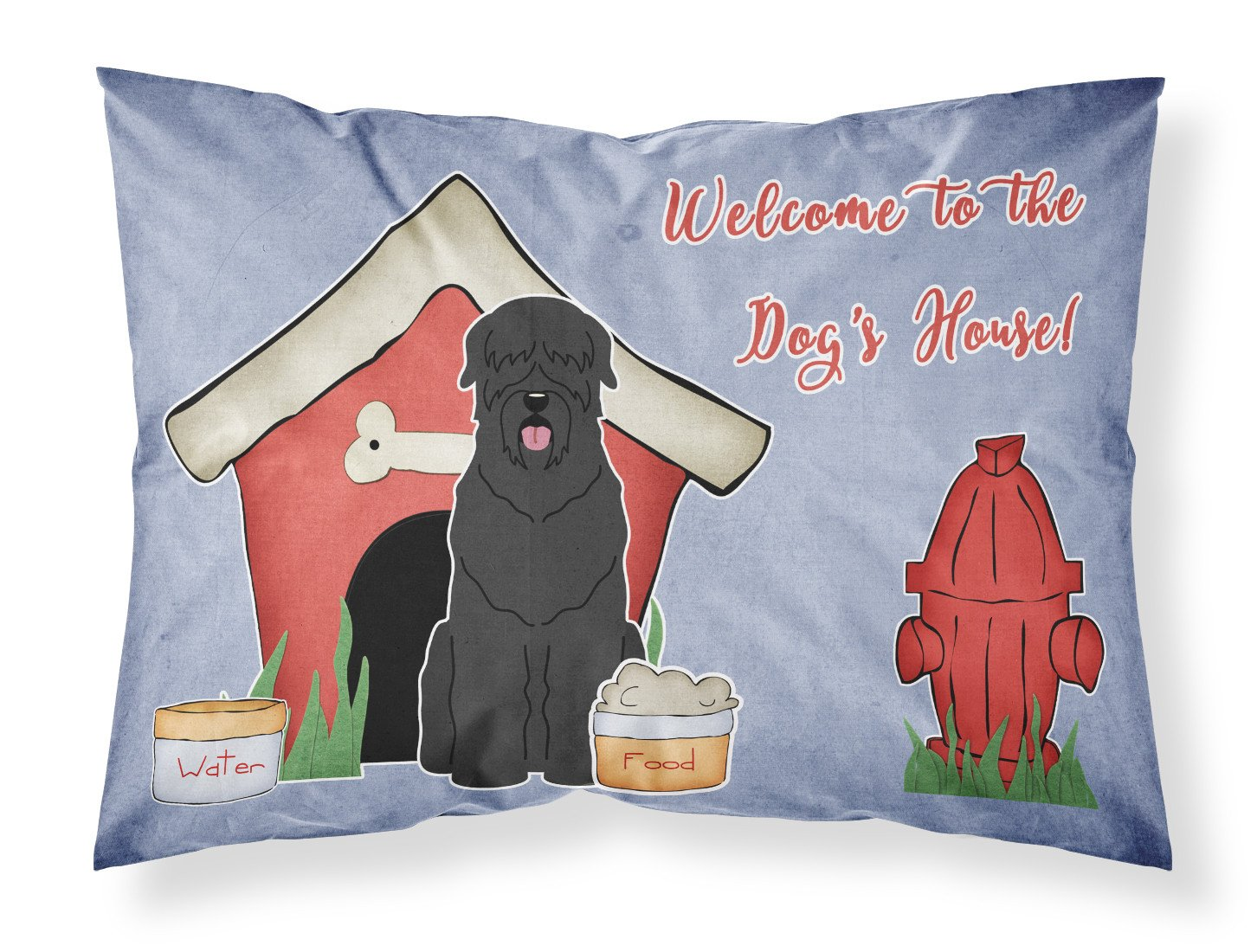 Dog House Collection Black Russian Terrier Fabric Standard Pillowcase BB2780PILLOWCASE by Caroline's Treasures