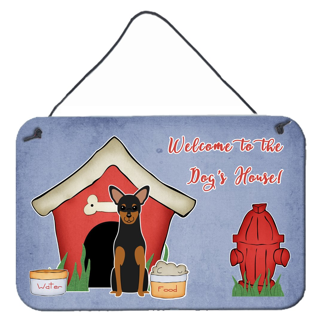 Dog House Collection Manchester Terrier Wall or Door Hanging Prints BB2782DS812 by Caroline's Treasures