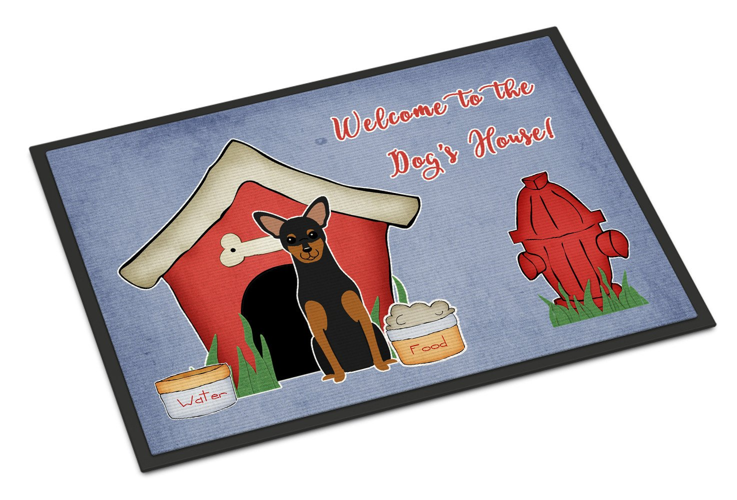 Dog House Collection Manchester Terrier Indoor or Outdoor Mat 18x27 BB2782MAT by Caroline's Treasures