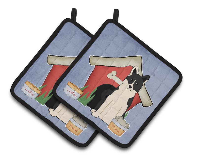 Buy this Dog House Collection Russo-European Laika Spitz Pair of Pot Holders