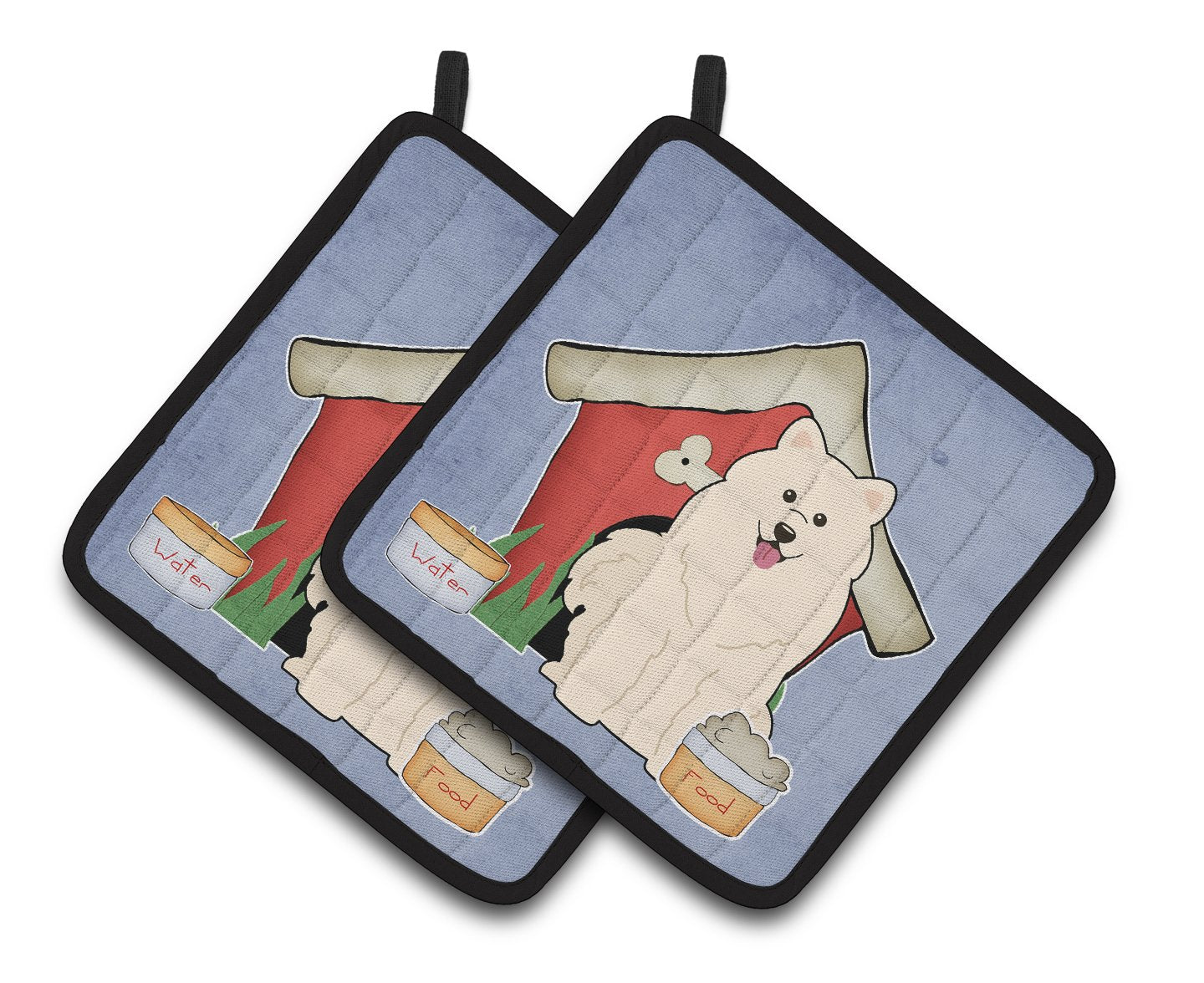 Buy this Dog House Collection Samoyed Pair of Pot Holders