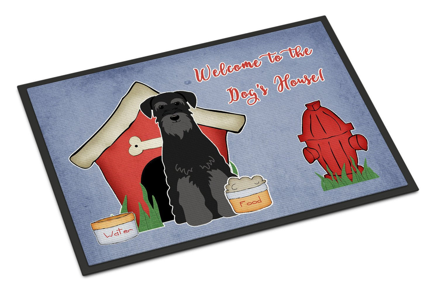 Dog House Collection Standard Schnauzer Black Indoor or Outdoor Mat 18x27 BB2786MAT by Caroline's Treasures