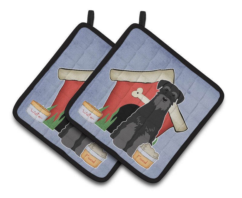 Buy this Dog House Collection Standard Schnauzer Black Pair of Pot Holders