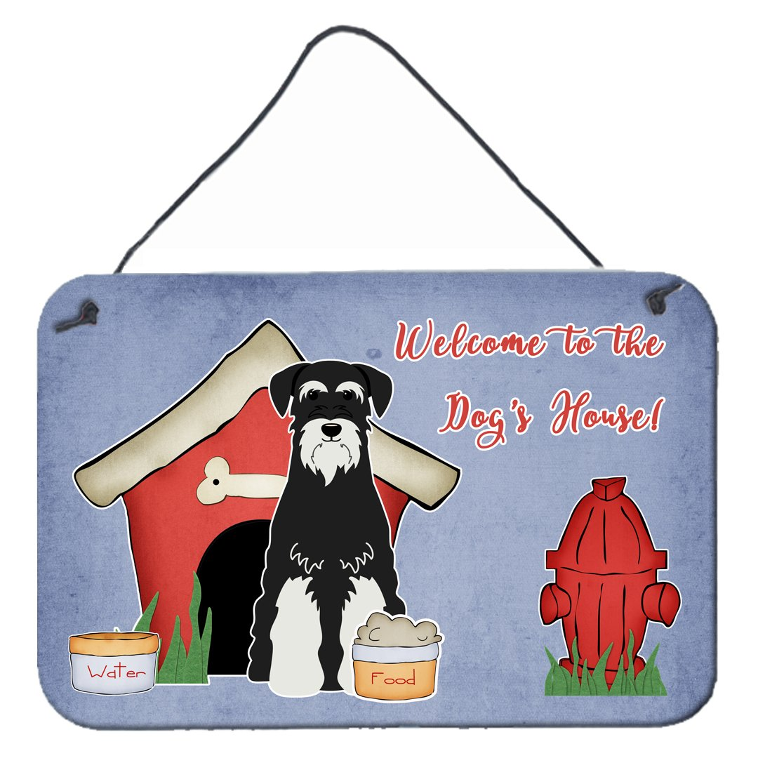 Buy this Dog House Collection Standard Schnauzer Salt and Pepper Wall or Door Hanging Prints
