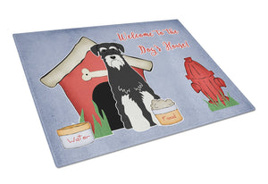 Buy this Dog House Collection Standard Schnauzer Salt and Pepper Glass Cutting Board Large BB2787LCB
