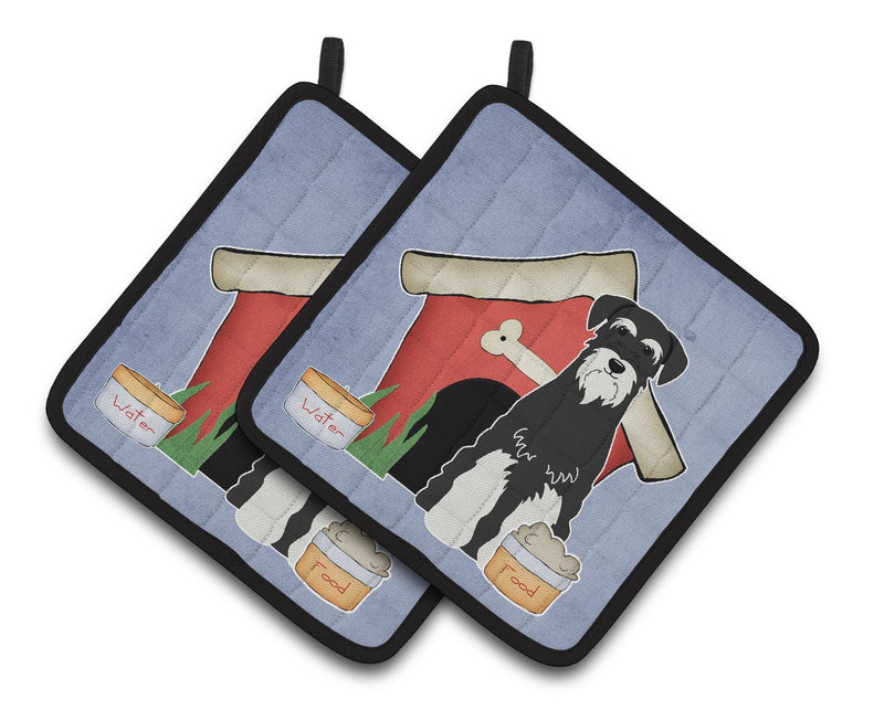 Buy this Dog House Collection Standard Schnauzer Salt and Pepper Pair of Pot Holders