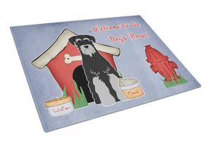 Buy this Dog House Collection Standard Schnauzer Black Grey Glass Cutting Board Large BB2788LCB