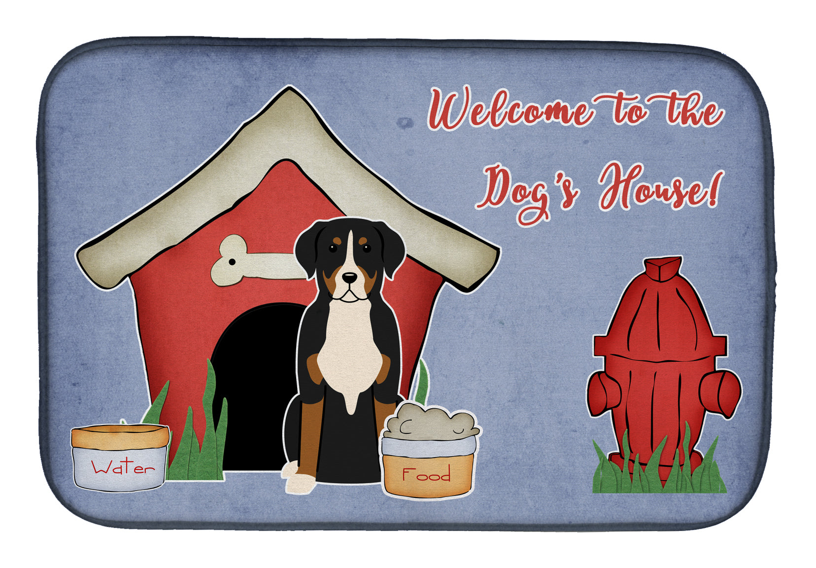 Dog House Collection Greater Swiss Mountain Dog Dish Drying Mat BB2791DDM by Caroline's Treasures