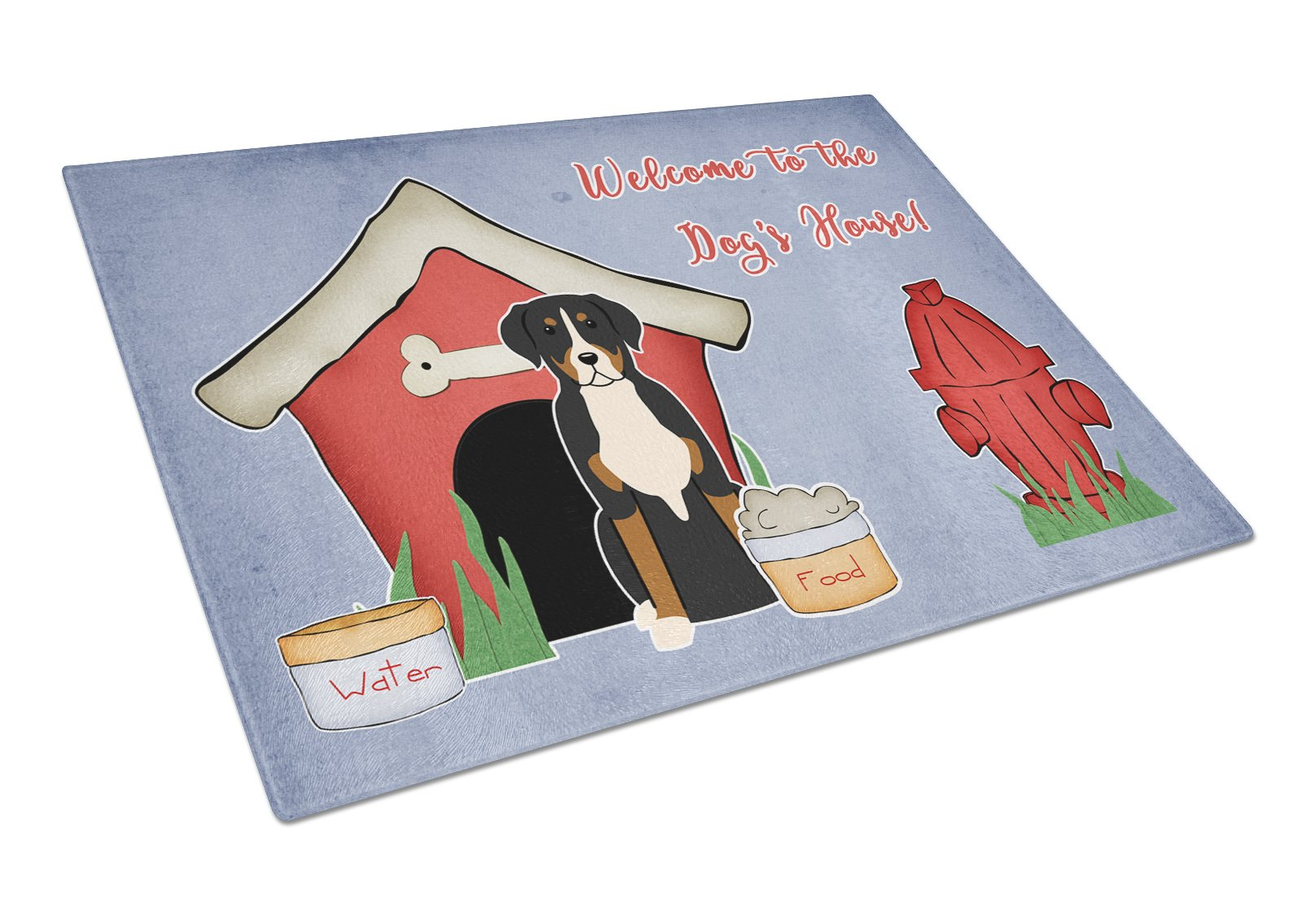 Dog House Collection Greater Swiss Mountain Dog Glass Cutting Board Large BB2791LCB by Caroline's Treasures