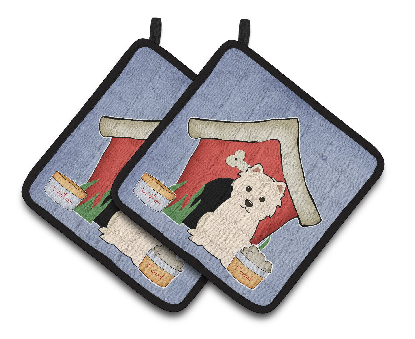 Buy this Dog House Collection Westie Pair of Pot Holders