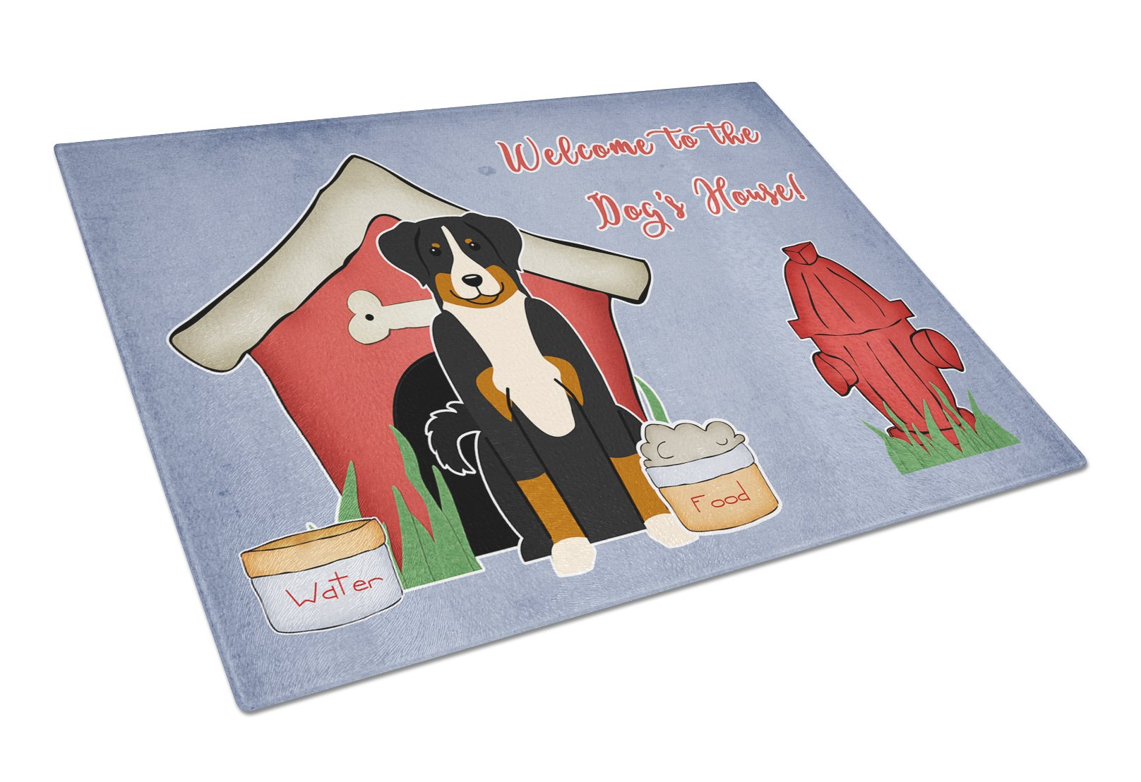 Dog House Collection Appenzeller Sennenhund Glass Cutting Board Large BB2797LCB by Caroline's Treasures
