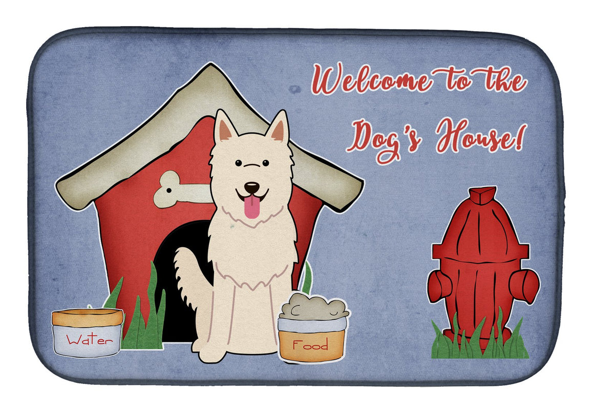 Buy this Dog House Collection White German Shepherd Dish Drying Mat BB2799DDM
