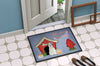 Dog House Collection Miniature Schanuzer White Indoor or Outdoor Mat 24x36 BB2807JMAT - the-store.com